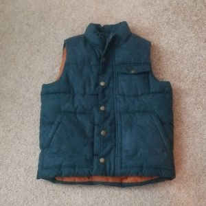 Old Navy Boys Green Puffer Snap On Vest